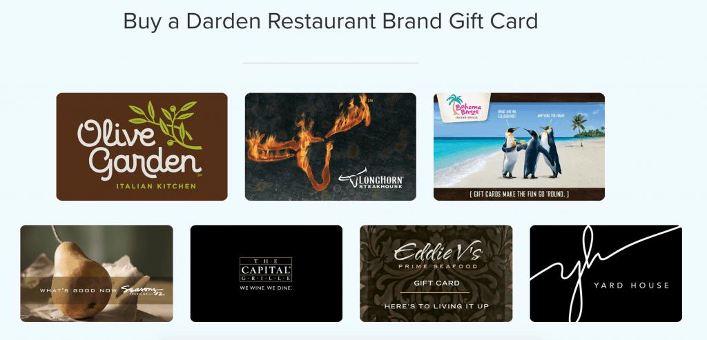 Buy Darden Gift Cards oNLINE