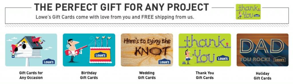 Buy lowe's gift card online