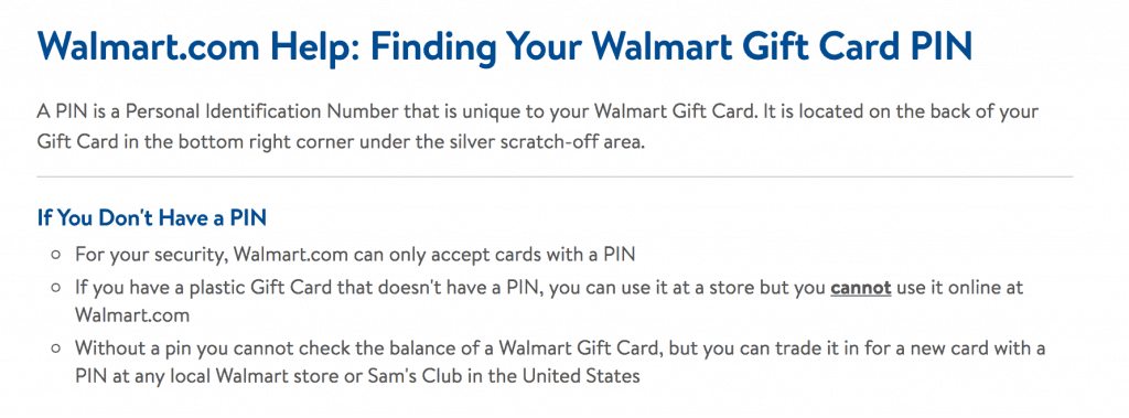 Gift Card PIN Walmart