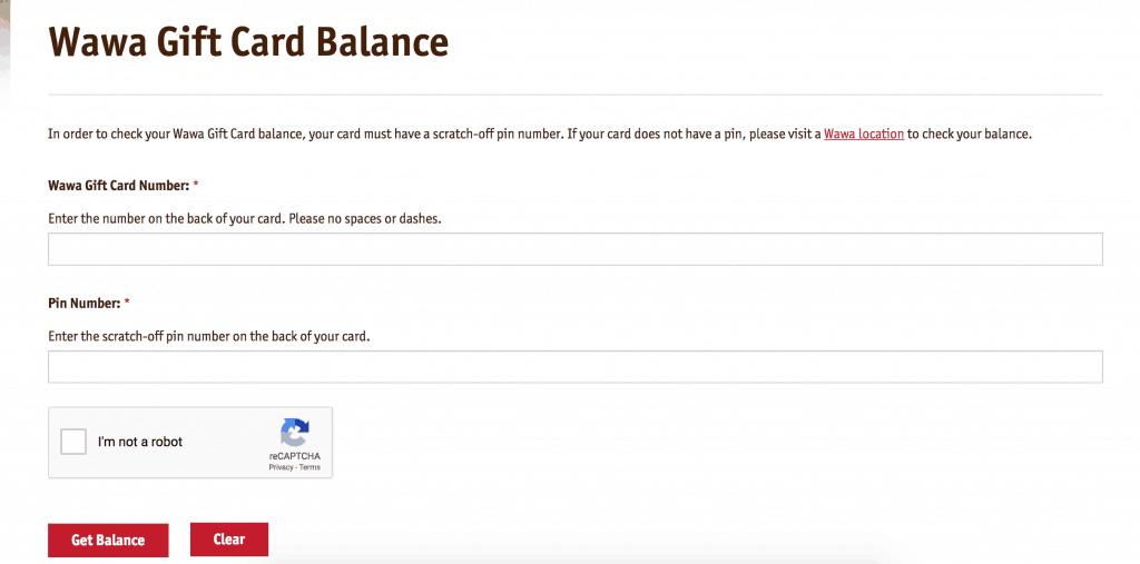 Wawa Gift Card Balance