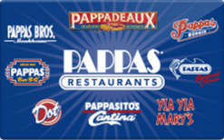 Pappas restaurant gift cards
