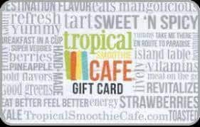 Tropical smoothie cafe gift cards
