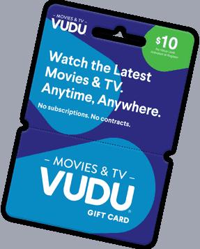 Vudu gift card balance