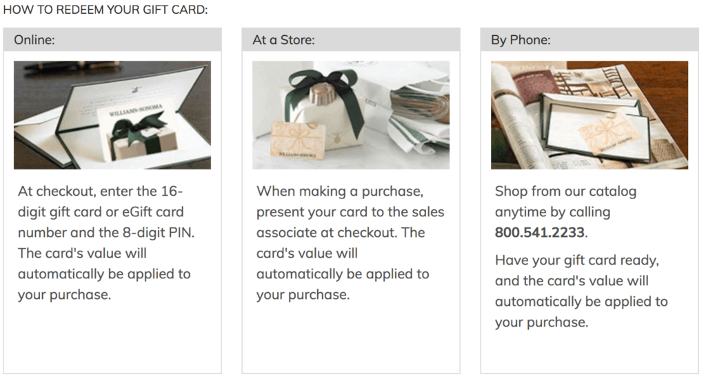 where to buy williams sonoma gift card